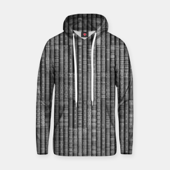 Thumbnail image of Keep Reading B&W Cotton hoodie, Live Heroes