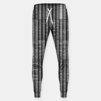 Thumbnail image of Keep Reading B&W Cotton sweatpants, Live Heroes