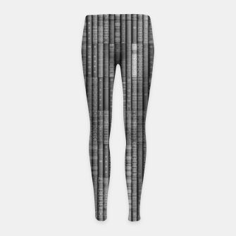 Thumbnail image of Keep Reading B&W Girl's leggings, Live Heroes