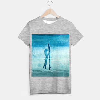 "Imagen en miniatura de ""abstract surfer"" T-Shirt regulär, Live Heroes"