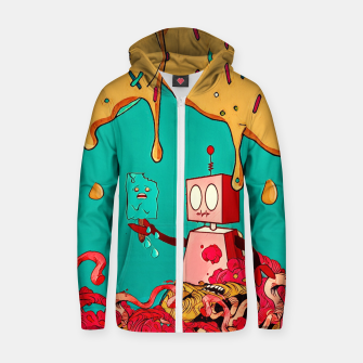 Thumbnail image of Robot Cotton zip up hoodie, Live Heroes