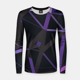 Thumbnail image of 3D Futuristic GEO Lines XXIX Woman cotton sweater, Live Heroes