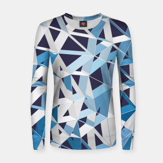 Thumbnail image of 3D Futuristic GEO Lines XXX Woman cotton sweater, Live Heroes