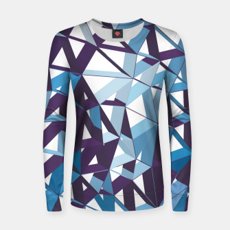 Thumbnail image of 3D Futuristic GEO Lines XXXIII Woman cotton sweater, Live Heroes