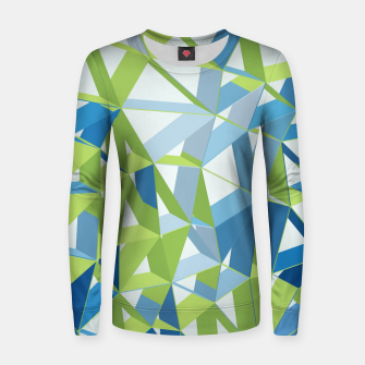 Thumbnail image of 3D Futuristic GEO Lines XXXI Woman cotton sweater, Live Heroes