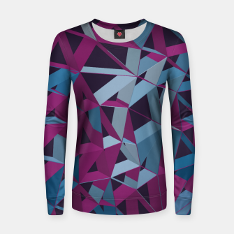 Thumbnail image of 3D Futuristic GEO Lines XXXII Woman cotton sweater, Live Heroes