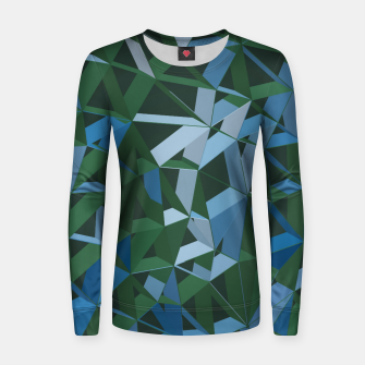Thumbnail image of 3D Futuristic GEO Lines XXXIV Woman cotton sweater, Live Heroes