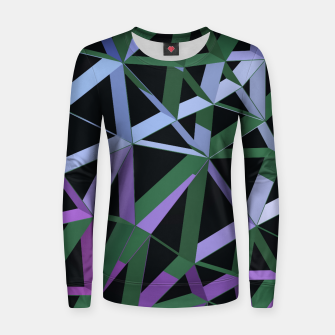 Thumbnail image of 3D Futuristic GEO Lines XVI Woman cotton sweater, Live Heroes