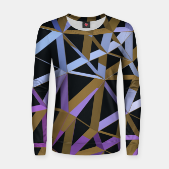 Thumbnail image of 3D Futuristic GEO Lines XVII Woman cotton sweater, Live Heroes