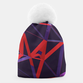 Thumbnail image of 3D Futuristic GEO Lines XXVIII Beanie, Live Heroes
