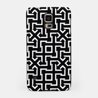 Thumbnail image of Black and White Ethnic Geometric Pattern Samsung Case, Live Heroes