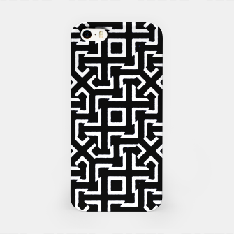 Thumbnail image of Black and White Ethnic Geometric Pattern iPhone Case, Live Heroes
