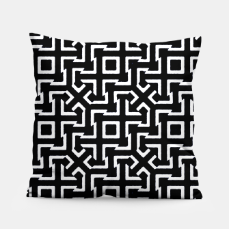 Thumbnail image of Black and White Ethnic Geometric Pattern Pillow, Live Heroes