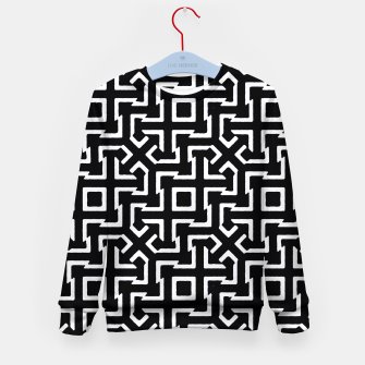 Thumbnail image of Black and White Ethnic Geometric Pattern Kid's sweater, Live Heroes