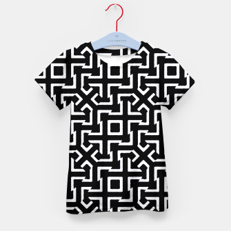Thumbnail image of Black and White Ethnic Geometric Pattern Kid's t-shirt, Live Heroes