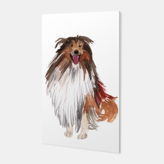 Imagen en miniatura de watercolor dog vol1 collie  Canvas, Live Heroes
