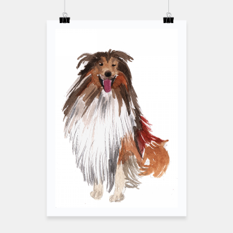 Imagen en miniatura de watercolor dog vol1 collie  Plakat, Live Heroes