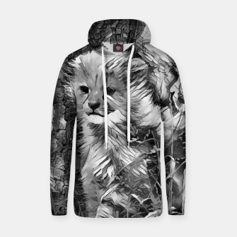 Thumbnail image of AnimalArtBW_Cheetah_001_by_JAMFoto Cotton hoodie, Live Heroes