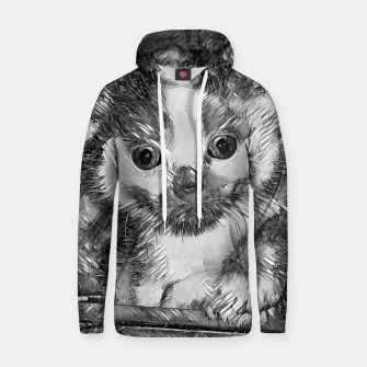 Thumbnail image of AnimalArtBW_Cat_003_by_JAMFoto Cotton hoodie, Live Heroes