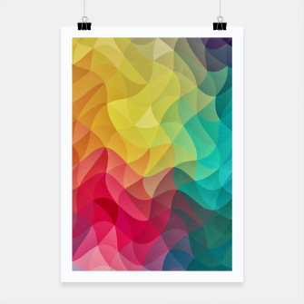 Miniaturka Abstract Color Wave Flash Poster, Live Heroes