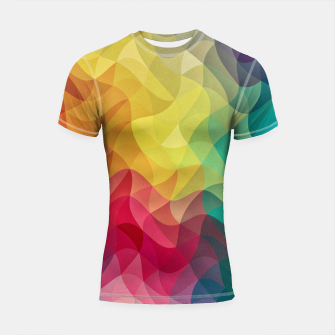 Miniature de image de Abstract Color Wave Flash Shortsleeve rashguard, Live Heroes
