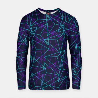 Miniature de image de Abstract Geometric 3D Triangle Pattern in  turquoise/ purple  Cotton sweater, Live Heroes