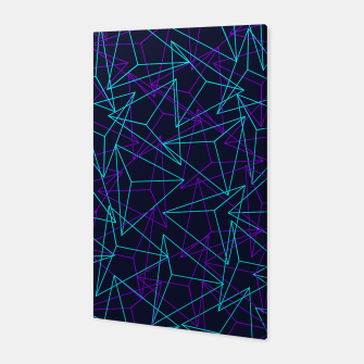 Miniature de image de Abstract Geometric 3D Triangle Pattern in  turquoise/ purple  Canvas, Live Heroes