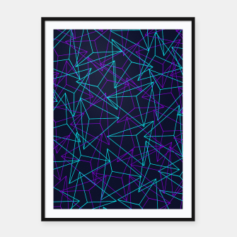 Miniature de image de Abstract Geometric 3D Triangle Pattern in  turquoise/ purple  Framed poster, Live Heroes