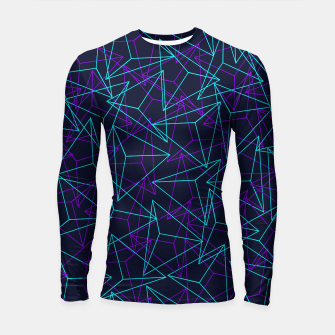 Miniatur Abstract Geometric 3D Triangle Pattern in  turquoise/ purple  Longsleeve rashguard , Live Heroes