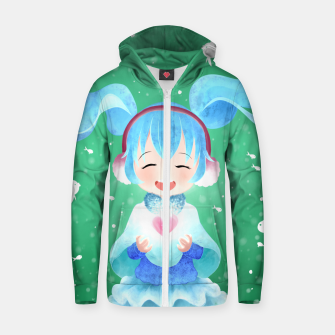 Miniaturka smile and Hearts Cotton zip up hoodie, Live Heroes