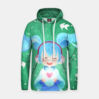 Thumbnail image of smile and Hearts Cotton hoodie, Live Heroes