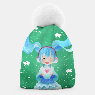 Thumbnail image of smile and Hearts Beanie, Live Heroes