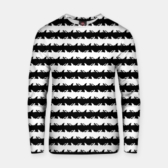 Miniatur Black and White Nightmare Beach Stripes Cotton sweater, Live Heroes