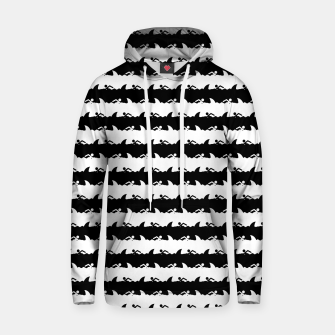 Thumbnail image of Black and White Nightmare Beach Stripes Cotton hoodie, Live Heroes