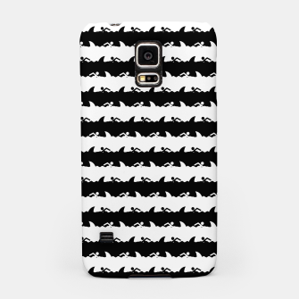 Thumbnail image of Black and White Nightmare Beach Stripes Samsung Case, Live Heroes