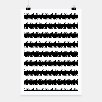 Miniaturka Black and White Nightmare Beach Stripes Poster, Live Heroes