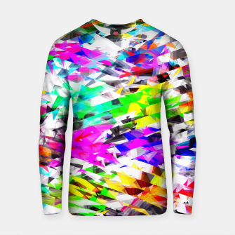 Miniaturka psychedelic geometric triangle polygon pattern abstract background in pink blue purple green yellow Cotton sweater, Live Heroes