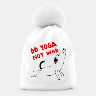 Thumbnail image of Do yoga not war Dog Czapka, Live Heroes