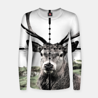 Thumbnail image of Deer stalker Woman cotton sweater, Live Heroes
