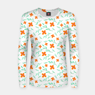 Thumbnail image of Flower Pattern Woman cotton sweater, Live Heroes