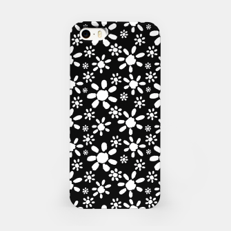 Thumbnail image of White Flowers on Black iPhone Case, Live Heroes