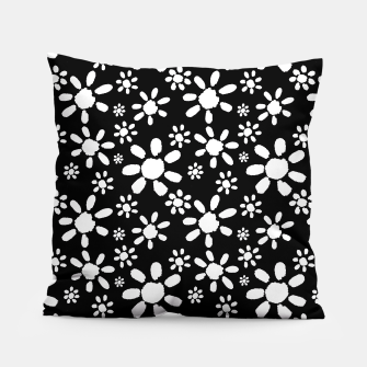 Thumbnail image of White Flowers on Black Pillow, Live Heroes