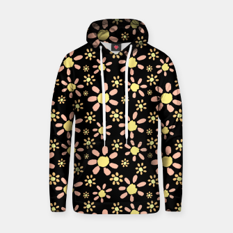 Thumbnail image of Flowers on Black Cotton hoodie, Live Heroes