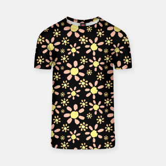 Thumbnail image of Flowers on Black T-shirt, Live Heroes