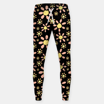 Thumbnail image of Flowers on Black Cotton sweatpants, Live Heroes