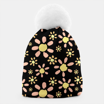 Thumbnail image of Flowers on Black Beanie, Live Heroes