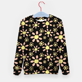 Thumbnail image of Flowers on Black Kid's sweater, Live Heroes