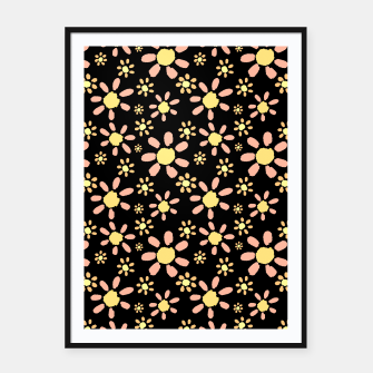 Thumbnail image of Flowers on Black Framed poster, Live Heroes