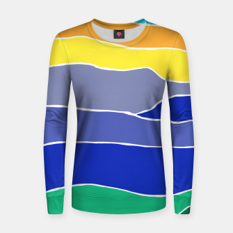 Thumbnail image of Landscape Stripes Woman cotton sweater, Live Heroes