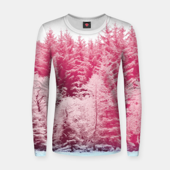 Thumbnail image of Candy pine trees Woman cotton sweater, Live Heroes